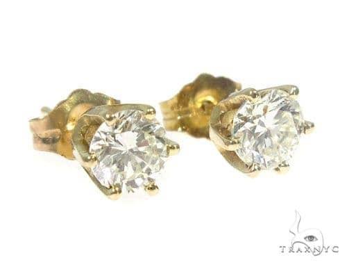 Prong Diamond Stud Earrings 45053 Style