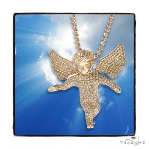 Angel Diamond  Moon Cut Rose Gold Pendant Chain Set 45245 Metal