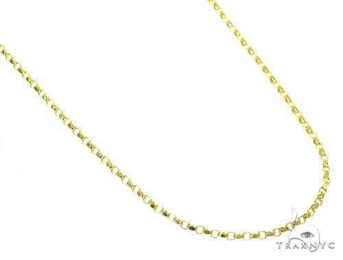 14k Yellow Gold Round Cable Chain 18 Inches 1mm 2.5 Grams 45273 Gold