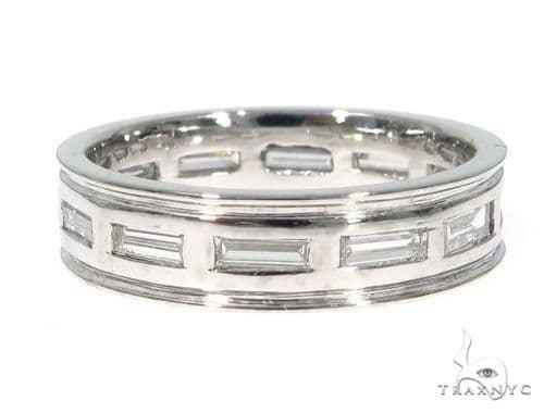 Platinum Emerald Diamond Band 45402 Style