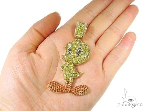 10k yellow gold tweety bird pendant mens metal yellow gold 10k round mens diamond jewelry mens pendants metal 10k yellow gold tweety bird pendant aloadofball Images