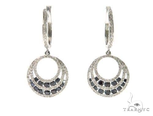 Ladies Pave Black Diamond Earrings 43230 Stone