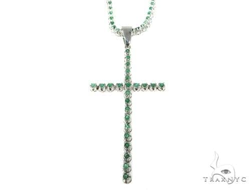 Emerald Silver Cross Chain Set 49160 Silver