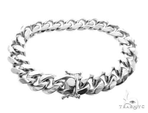 Miami Cuban Silver Bracelet 49189 Silver