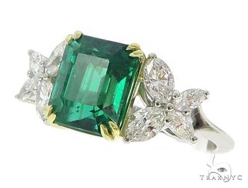 Butterfly Emerald Gemstone Diamond Ring 49351 Anniversary/Fashion