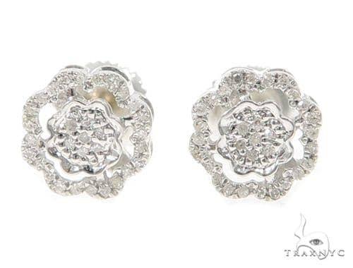 Prong Diamond Earrings 49364 Metal