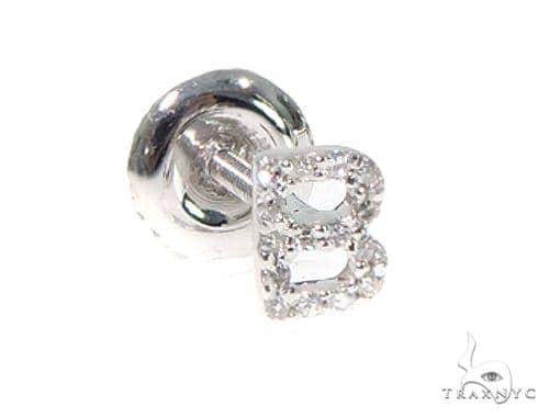 Prong Diamond Initial 'B' Single Earring 49519 Stone