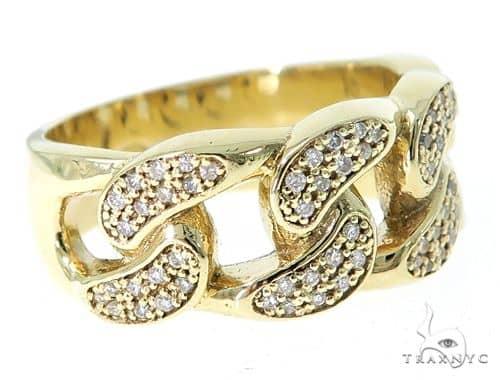Miami Cuban Link Diamond Ring 49612 Stone