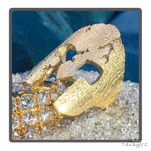 Spartan Mask Diamond Ring 49760 Stone