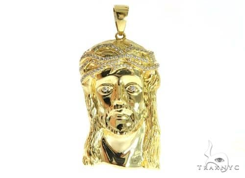 Jesus Diamond Pendant 49773 Metal