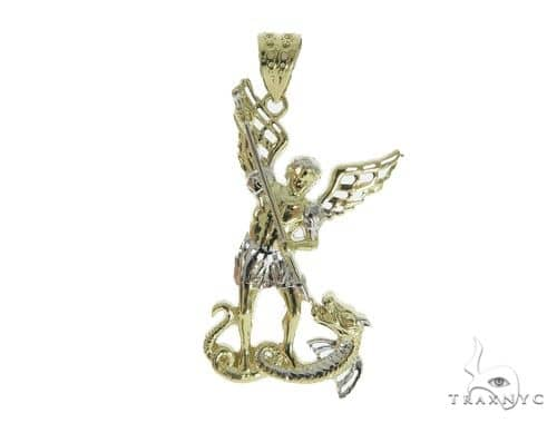 10k Yellow Gold Saint Michael Pendant 44277 Metal