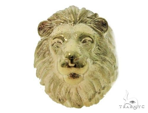 Lion Gold Ring 49783 Metal