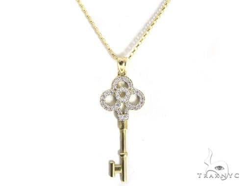 Lucky Key Gold Necklace 49806 Gold