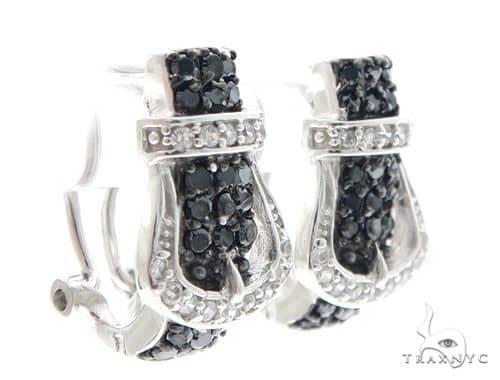 Buckle Silver Earrings 49824 Metal