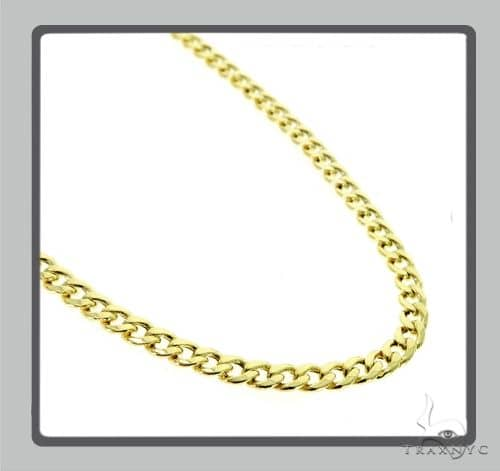 10K Hollow Traxnyc Miami Cuban Chain 28 Inches 6mm 18.5 Grams Gold