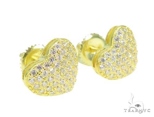 Heart Silver Earrings 49876 Metal