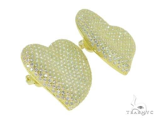 Heart Silver Earrings 49882 Metal