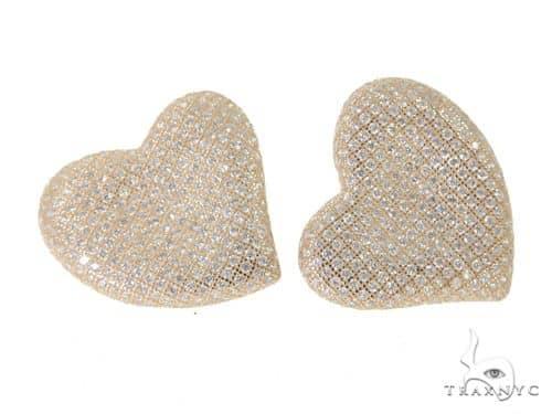 Heart Silver Earrings 49878 Metal
