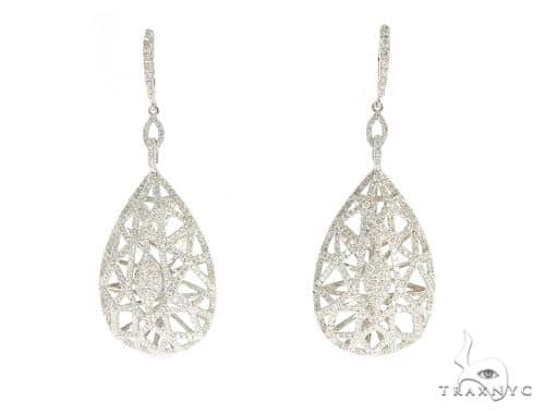 Prong Diamond Chandelier Earrings 56485 Stone