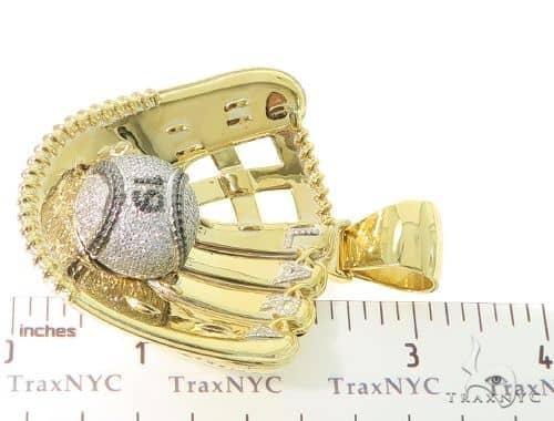 Custom baseball glove pendant 56564 mens metal yellow gold 10k mens diamond jewelry mens pendants metal custom baseball glove pendant 56564 aloadofball Gallery