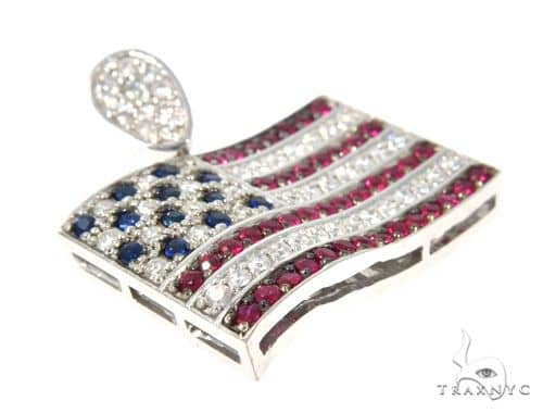 Custom diamond american flag pendant 45582 gold 14k round cut 088 ct mens diamond jewelry mens pendants metal custom diamond american flag pendant 45582 aloadofball Choice Image