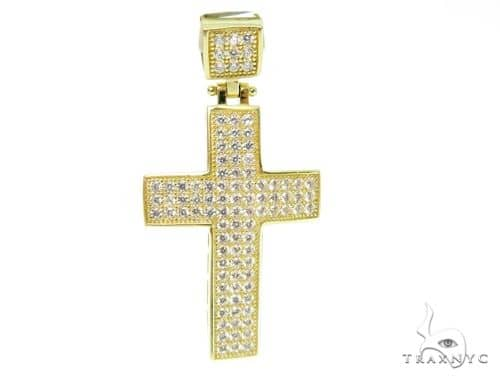 10K Yellow Gold Cross Pendant 56862 Gold