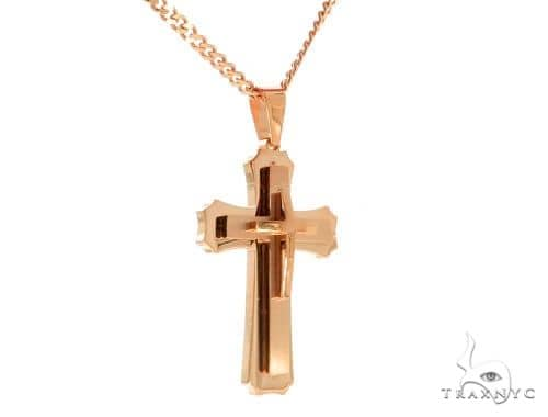 Rose Stainless Steel Cross Set 45606 Stainless Steel