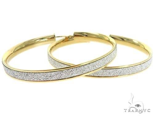 14K Yellow Gold Hoop Earrings 56922 10k, 14k, 18k Gold Earrings