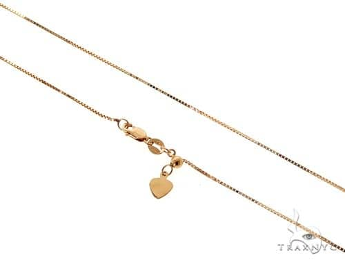 Adjustable Box Chain 22 Inches 0.7mm 2.15 Grams 56985 Gold