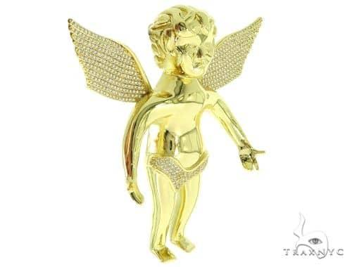 Silver Angel Pendant 56987 Metal