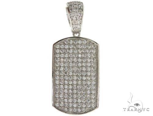 Silver Dog Tag Pendant 56992 Metal