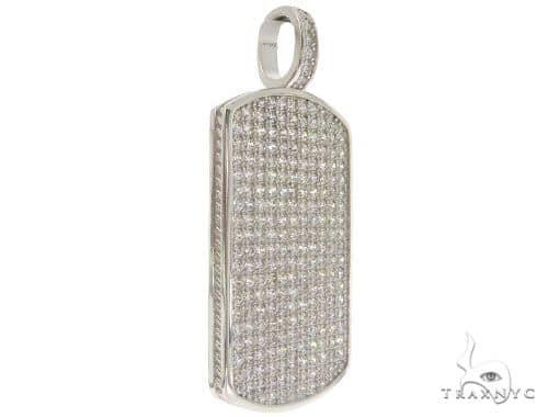 Silver Dog Tag Pendant 57011 Metal