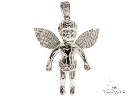 Silver Angel Pendant 57020 Metal