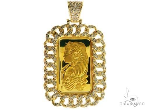 Miami Cuban Diamond Dog Tag Wtih 10g Suisse Fine Gold 999.9 57038 Metal