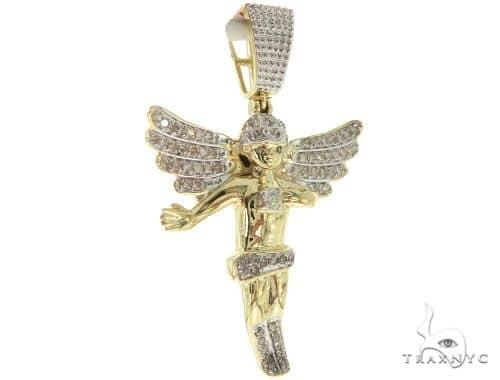 Micro Pave Diamond Angel Pendant 57065 Metal