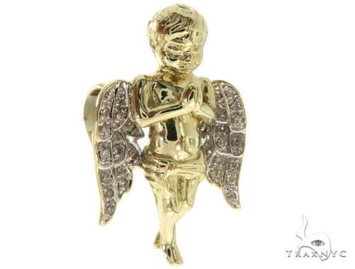 Micro Pave Diamond Small Angel Pendant 57066 Metal
