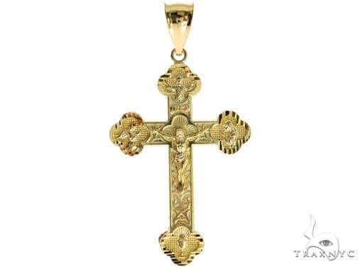 10K Yellow Gold Jesus Cross 57069 Gold