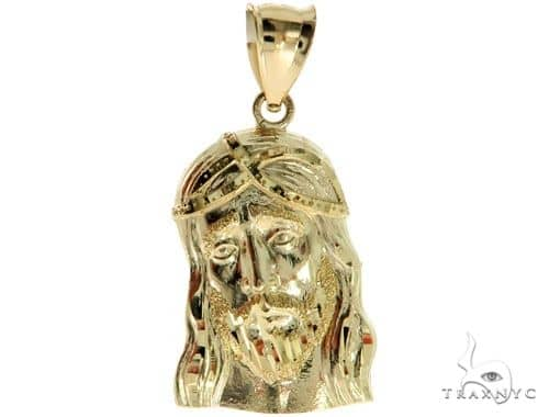 10K Yellow Gold Jesus Pendant M 57072 Metal