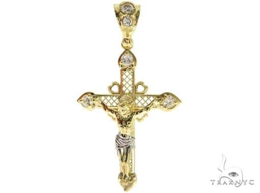 10K Yellow Gold Jesus Cross 57087 Gold