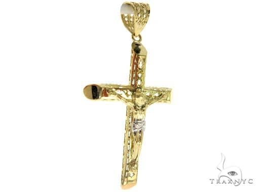 10K Yellow Gold Jesus Cross 57098 Gold