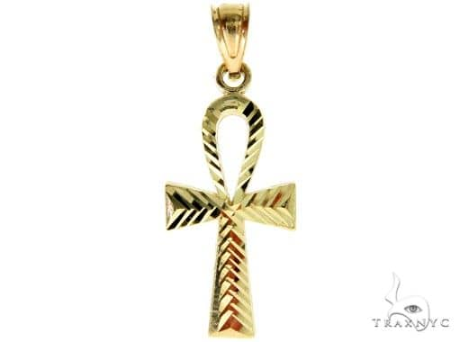 10K Yellow Gold Small Ankh Cross 57104 Gold