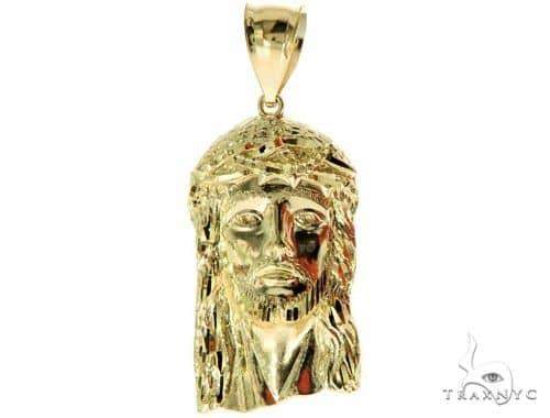 10K Yellow Gold Jesus Pendant L 57113 Metal