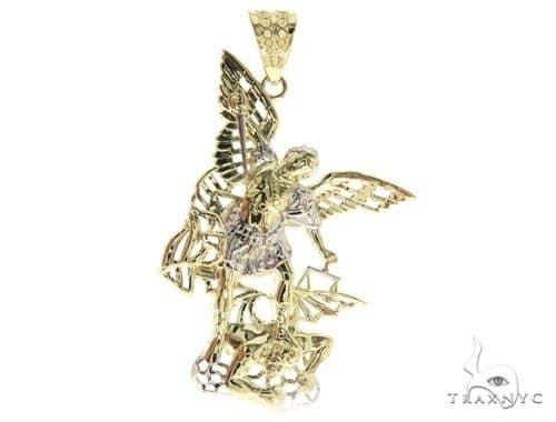 10k gold saint michael pendant 49973 yellow gold 10k mens diamond jewelry mens pendants metal 10k gold saint michael pendant 49973 mozeypictures Image collections