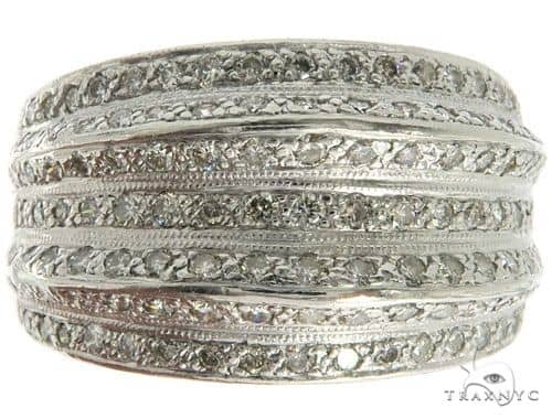14K White Gold Prong Diamond Band 57190 Anniversary/Fashion