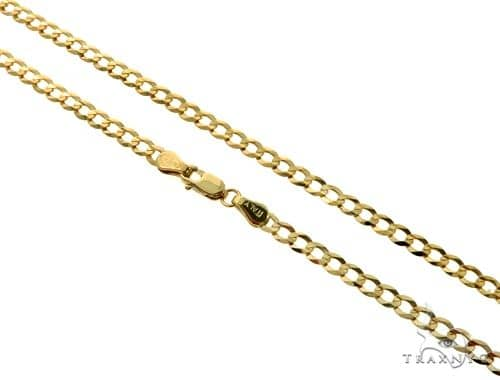10KY Cuban Curb Link Chain 24 Inches 3.5mm 5.6 Grams 57245 Gold
