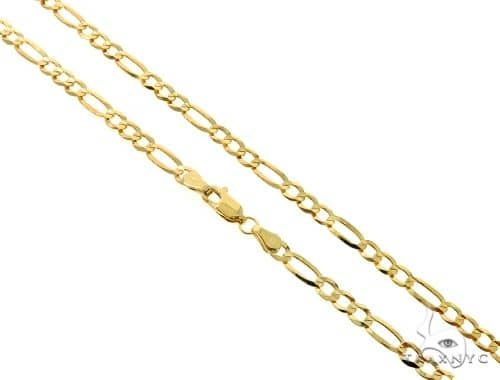 10KY Figaro Link Chain 26 Inches 4mm 9.60 Grams 57252 Gold