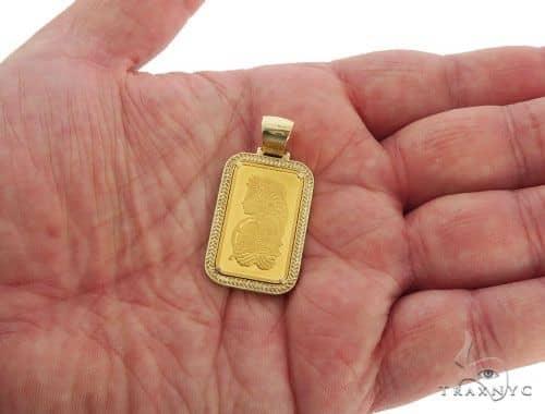 14k frame 9999 suisse fine gold bar pendant 57279 mens metal yellow mens diamond jewelry mens pendants metal 14k frame 9999 suisse fine gold bar pendant 57279 aloadofball Image collections