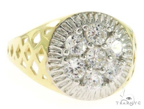 Yellow 10K Gold CZ Ring 25259 Metal