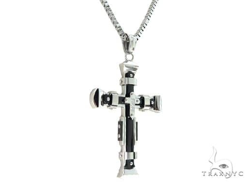 Stainless Steel Cross Chain Set 57584 Stainless Steel