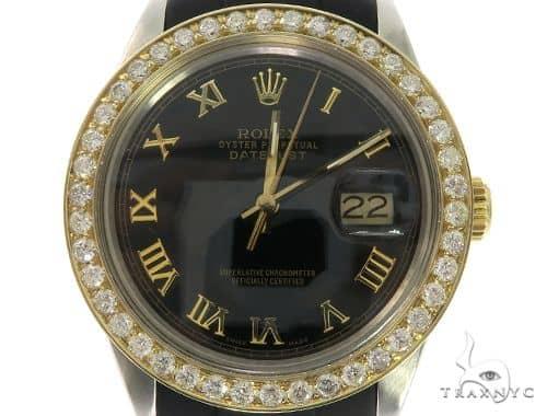 Rolex DateJust Oyster Perpetual 14K Gold Bezel 57675 Diamond Rolex Watch Collection